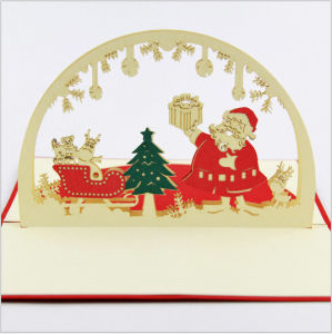 Hand Made 3d Pop Up Christmas Greeting Card
