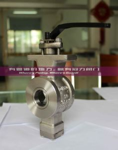 CF8 CF8m Flange Wafer Type V Port Ball Valve pictures & photos