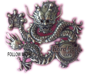 Hard Rock Badge with Dragon Logo