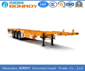 40FT 3-Axle Skeleton Container Truck Trailer