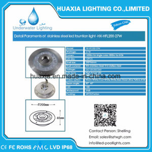 Stainless Steel Waterproof IP68 12V LED Fountain Nozzles Light