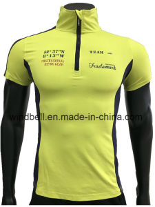 T Shirt Sportswear for Men with Rubber Print for Fitness pictures & photos