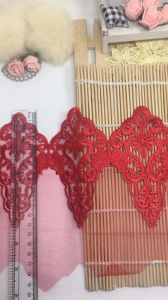 New Arrival 20cm Width Embroidery Trimming Net Lace for Garments & Home Textiles & Curtains Factory Stock Big Sale pictures & photos