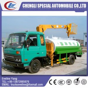 High Quality Water Tank Truck with Crane pictures & photos
