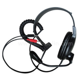 Single Ear Headset with Microphone Wired Headphone with Medium Earpads