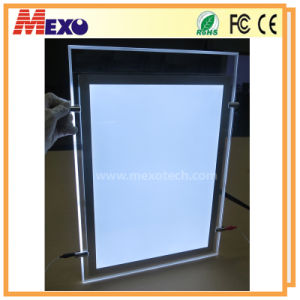 Crystal Photo Frame Magnetic LED Light Box pictures & photos