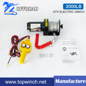 ATV 4WD 12V/24V DC Electric Winch with 2000lb Load Capacity