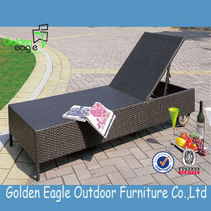 Professional Popular Aluminum Frame Rattan Chaise Lounge