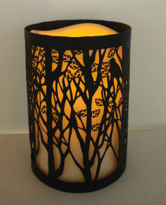Elegant Etching Metal Cylinder Shell Mood Light LED Candle Lantern pictures & photos
