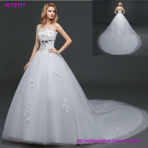 China Beauty Prom Lace Handmade Floor Length Tulle Ball Gown