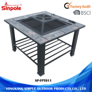 Professional Metal Square Outdoor BBQ Modern Fire Pit Table pictures & photos