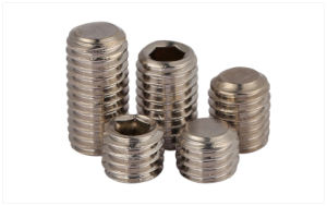 Stainless Steel Socket Set Screw with Flat Point