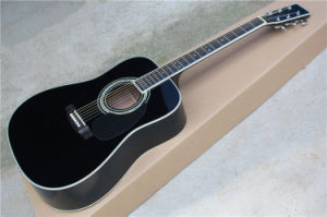Hanhai Music/Black 41′′ Acoustic Guitar with Johnny Cash Signature (D-35) pictures & photos