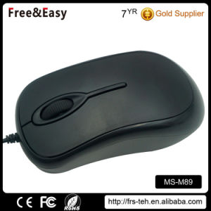Brand Quality Black Wheel Optical Wired PC Mouse pictures & photos