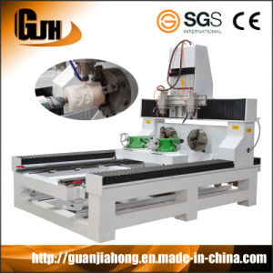 4 Axis 8 Spindles Stone CNC Router Machine (DT8025-6) pictures & photos