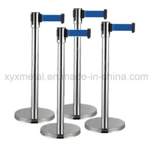 Stainless Steel Fence Crowed Control Queue Retractable Rope Stanchion Belt Barrier pictures & photos