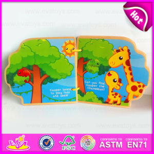 2015 More Creative Wooden Learn Colouring Book, Paint Picture Wooden Story Book, Educational Fun Learning Wooden Toys Book W12e006 pictures & photos