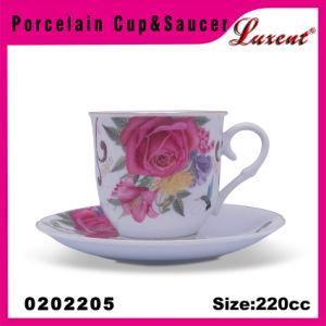 Ceramic Vanity Restaurant Promotional European Cups and Saucers