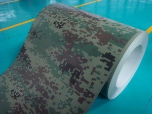 New Design High Quality Painted Steel Coil with Camouflage Pattern Grain (ZL-PPGI) pictures & photos