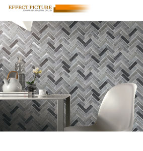 Matte Surface Recycle Glass Mosaic Wall and Floor Decoration on Sale (V630001) pictures & photos