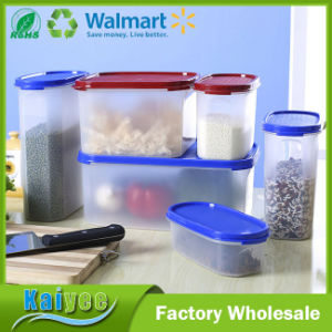 China Kitchen Plastic Cereal Food Storage Container with Logo Print ...