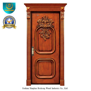 Classic European Solid Wood Door with Carving (ds-8009) pictures & photos