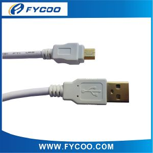 USB a Male to USB Mini 5pin Male Cable PVC Molding USB 2.0 Cable