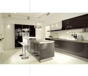 Acrylic High Gloss Kitchen Cabinet Design