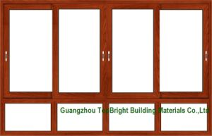 Wood-Clad Aluminum Sliding Windows Frames Designs pictures & photos