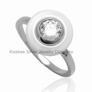 Fine Jewelry, Ceramic 925 Silver Ring, Rhodium Plating (R21111) pictures & photos
