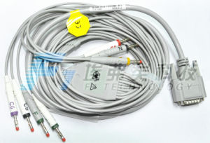 Edan 10 Leads EKG Cable with Leadwires 4.0 Pin pictures & photos