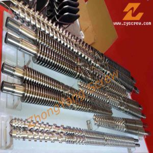 Twin Parallel Screw Barrel for PE PP PVC Pipe/Profile/Sheet Extrusion Screw Barrel pictures & photos