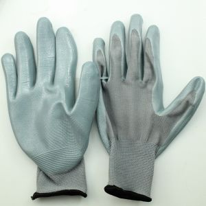 Nitrile Palm Gloves pictures & photos