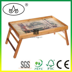 Bamboo Folding Table/ Tray/for Tea/Breakfast/Bed/ Dine/Kids