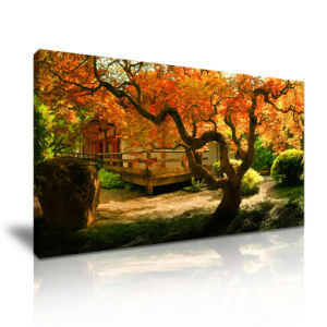 Autumn Scenery Canvas Printed Painting for Home Decoration