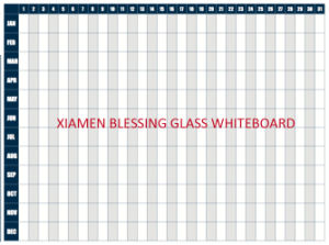 Yearly/Monthly/ Weekly Magnet Dry Erase Glass Calendar/Planner Whiteboard with En71/72/73