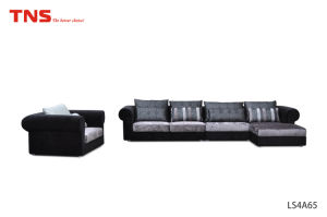 Hot Promotional Selling Corner Leather Sofa Set with Good Price (LS4A65)