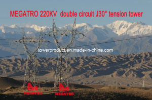 Megatro 220kv Double Circuit J30 Tension Tower Transmission Tower pictures & photos