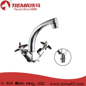 Swan Neck Hot and Cold Two-Handle Basin Faucet (ZS27-170)