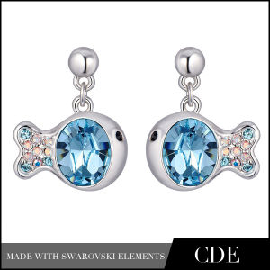 Fashion Drop Earrings with Crystal (E0257A)