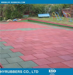 General Use Cheap Price Square Rubber Floor Tile, Outdoor Rubber Tile Colorful pictures & photos