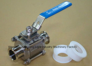 Stainless Steel Ss316 Encapsulated Triclamp Ball Valve 1""