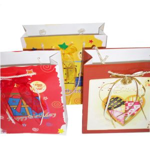 Cusom Happy Birthday Handmade Paper Bag Designs (OEM-Pb023) pictures & photos