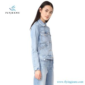China High Quality Short Women S Denim Jean Jacket With Latest