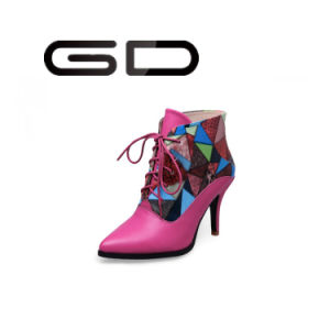 Factory Fashion New Style Slim Heels Ankle Boots for Woman