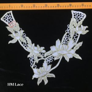 China 3532cm vintage venise lace applique collar with big lotus 3532cm vintage venise lace applique collar with big lotus flower hme901 mightylinksfo Image collections