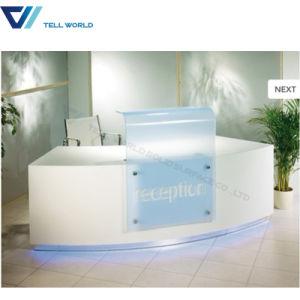 Modern Design Service Checkout Counter White Salon Reception Ist Desk White  Front Office Counter Desk