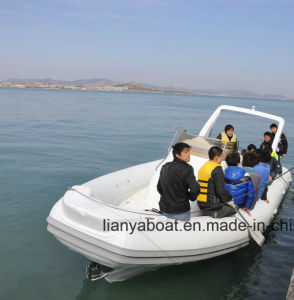 Liya 27feet Military Fiberglass Hull Inflatable Boat with Motors pictures & photos