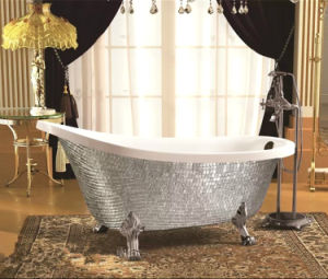 New Design Luxury Mosaic Acrylic Soaking Bath Tub (620A-1) pictures & photos