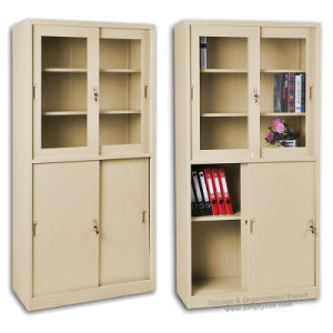 finest selection 34f67 5a5d8 Metal File Cabinet with Upper Double Door Glass (FC-1002002)